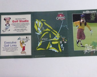Vintage Walt Disney World Palm Golf Course Unused Scorecard