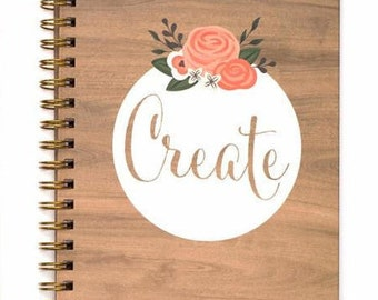 American Crafts Lined Spiral Journal - Create
