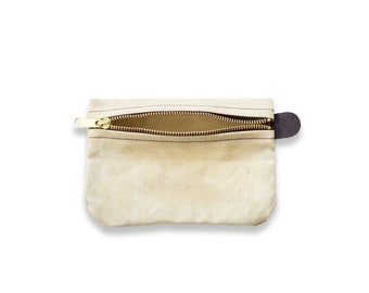 Waxed Canvas Writers Pouch - Natural