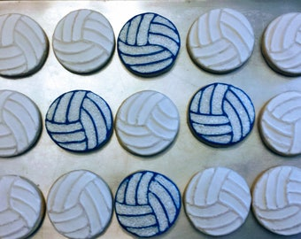 Volleyball Sports Cookies - sold by the dozen
