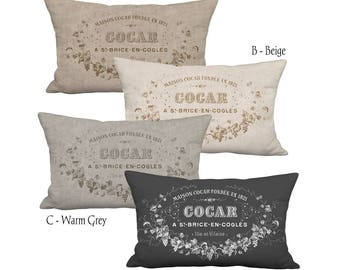 Lumbar Pillow Cover - Pillow - Maison Cocar Neutral Grain Sack Style Decor 12x18 12x20 12x24 14x20 14x22 14x26 16x20 16x24 16x26 Inch