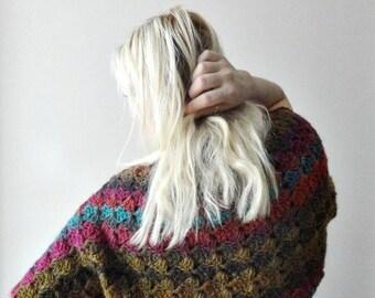 Sale Crochet Shrug, Knitted Shrug, Short Sleeved Shrug, Womens Bolero, Crochet Cropped Cardigan, Colorful Shrug, Womens Fashion, Gift for He