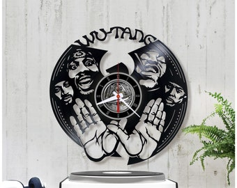 Wu-Tang Clan vinyl clock. Wall clock. Vinyl record clock for home decor *V132 Birthday gift, Rap, Christmas Gift