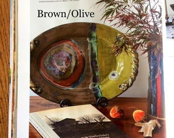 """Handmade Ceramic """"Twisted Root"""" Serving Platter - As Seen in The Cottage Journal"""