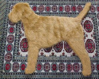 Border terrier rug
