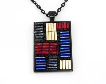 Frank Lloyd Wright Stained Inspired Pendant