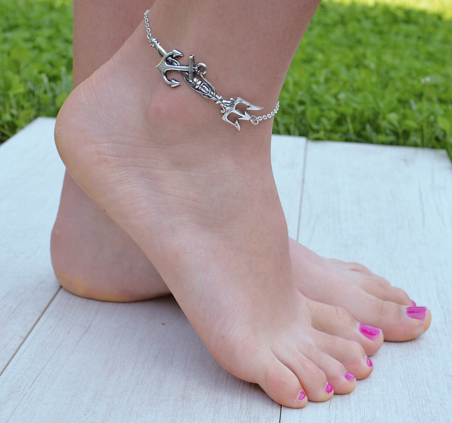 dolls ankle metal kill paradisia anklet chains silver wife