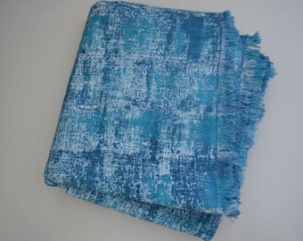 Coastal Colours Textured Cotton Throw