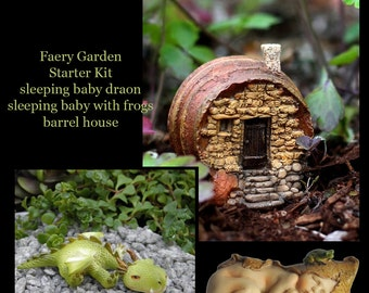 Miniature Dollhouse FAIRY GARDEN ~ Fairy Garden Starter Kit set of 3 ~ new