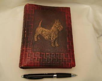 Vintage Victorian Scottie Dog Photo Album