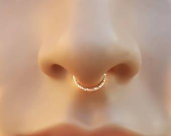 Fake Septum Ring in Silver, Fake Nose Ring