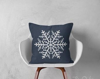Snowflake pillows decorative throw pillows winter pillows holiday throw pillows pillows snowflake pillows 12x18 inches pillows