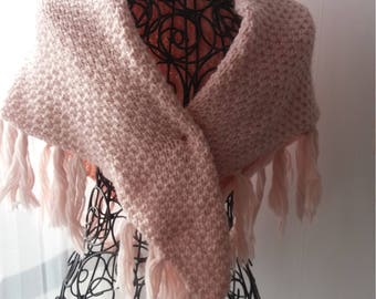 Scarf/shawl with fringe - shawl