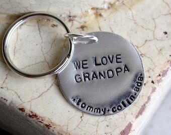 Custom keychain -- We love Grandpa/Grandma/Mom/Dad Copy