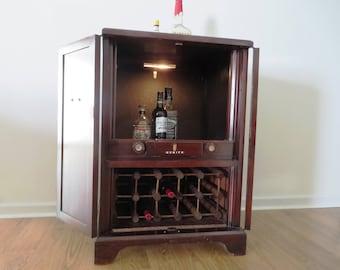 Reclaimed TV Cabinet Hidden Liquor Cabinet Bar Wine Rack PICK UP only - no shipping
