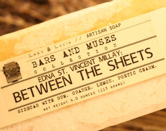 Edna St. Vincent Millay | Between the Sheets | Bars and Muses | Artisan Soap | Handcrafted Soap