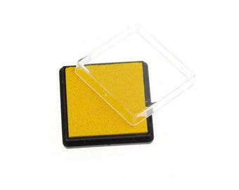 Ink stamp yellow square