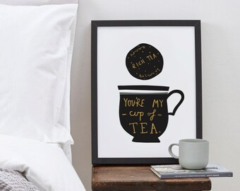A4 My Cup Of Tea print - Valentine's Day print