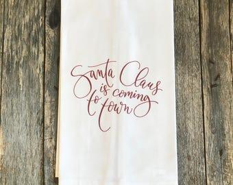 Santa Claus is Coming to Town Tea Towel