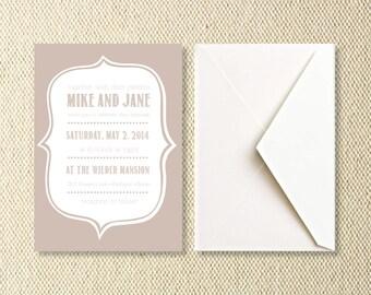 Printable Vintage Wedding Invitations