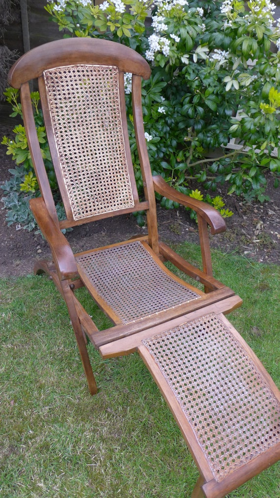 - Antique Steamer Chair Early 20th Century