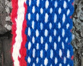 woven garters Native American finger woven style