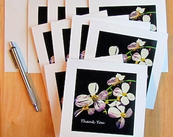 Thank You Card Set, Flower Thank You Cards, Set of Thank You Cards, Wedding Thank You Cards, Wedding Cards, Thank You Cards, Note Cards