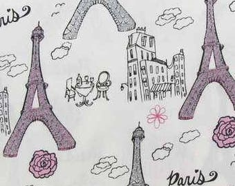 1 yard of Paris Fabric with glitter accents