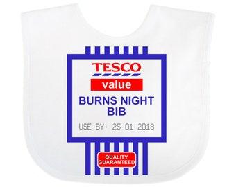 Funny Baby Bib Novelty Gift Tesco Value Burns Night Bib
