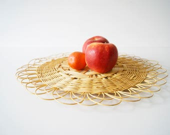 Straw plate, plate willow, coaster, mural, Fruit bowl