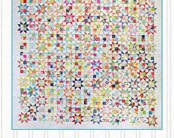 Master Plan Quilt Pattern - Jumble Miss Rosie's Quilt Co #RQC702 - Charm Pack Quilt Pattern - Star Quilt Pattern
