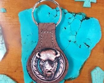Buffalo Head Key Fob