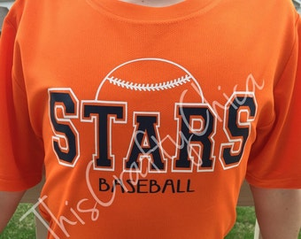 Baseball team short sleeve shirt * number * personalized *
