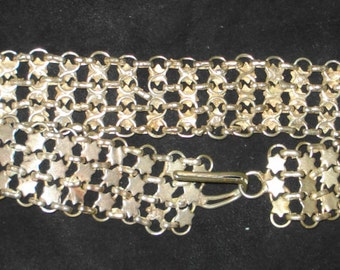 Vintage Silver Belt ~ Stars ~ Victorian or Edwardian possibly Nurse's Belt ~ 31 inches