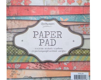 Paper pad - creative SCRAPBOOKING paper printed one side