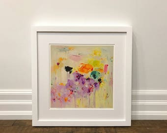 Matted Print, Abstract art print, wall art, giclee print, fine art print, 16 x 16