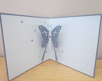 kirigami Butterfly card