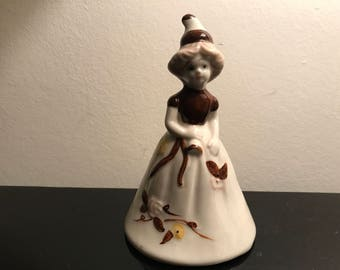 Lady in a dress ceramic - china collectible bell