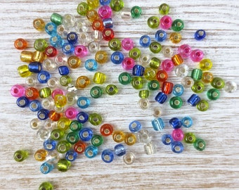 SALE! Glass Seed Bead Destash ~ 95 grams- Size 6/0 ~ Multicolor