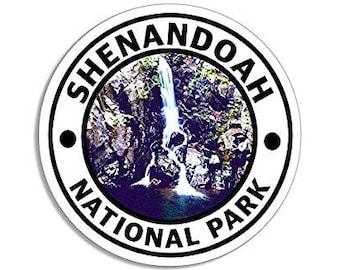 Round SHENANDOAH National Park Sticker (hike travel rv)