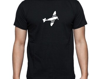 Spitfire  - 100% Cotton Mens T-shirt S M L XL XXL Fathers Day BBMF Plane Aircraft Aviation Raf