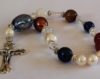 Lutheran Prayer Beads, Frälsarkransen, 18 bead rosary, Pearls of Christ, Wreath of Christ, pocket beads or Bracelet,