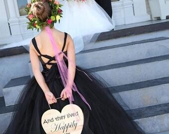 NEW! The Olivia Dress in Black - Flower Girl Dress