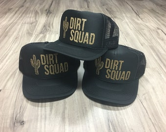 Dirt Squad Trucker Hat Mesh Camping Desert Riding Country Women's Ocotillo Glamis Dunes