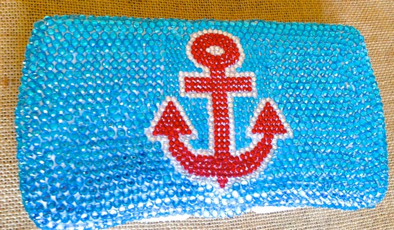 Rhinestone Anchor Baby Wipe Case