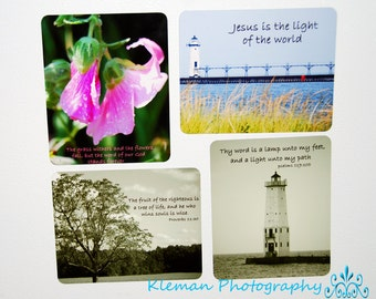 Set of 4 Magnets with Scripture-READY TO SHIP