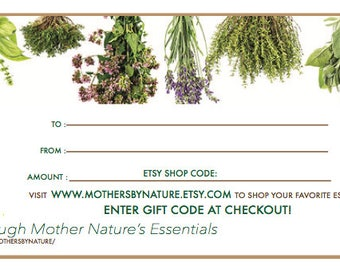 Mothers By Nature Gift Certificate
