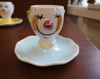 Vintage Clown Egg Cup - Portugal