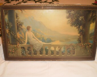 1930's original print in original frame 'sunset dreams'by R Atkinson Fox!