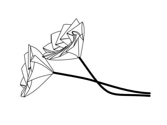 origami diagram for lonely flower